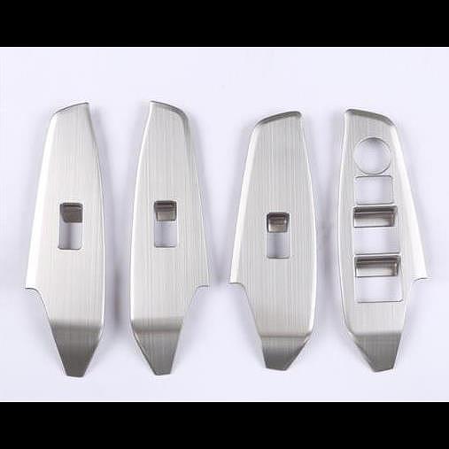 AL 適用: MAZDA3 マツダ 3 アクセラ 2014-2017 ウインドウ コントロール パネル ガラス リフター スイッチ カバー トリム 保護 ガラス スイッチ シルバー AL-EE-6716