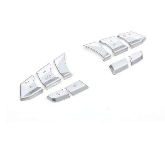 AL 適用: MAZDA3 マツダ 3 アクセラ 2014-2017 ステアリング ホイール ボタン 装飾 トリム カバー スパンコール 10ピースセット AL-EE-6732