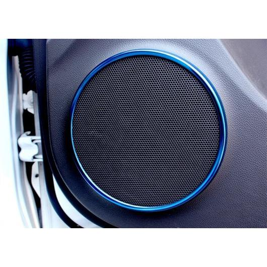 AL 適用: シボレー クルーズ 2009-2015 ディテクター インサイド オーディオ スピーカー サウンド リング サークル ランプ トリム 装飾 ブルー AL-EE-6778