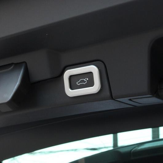 AL 適用: ジャガー XF 2016 2017 2018 トランク ドア エレクトリック テールゲート ボタン ノブ スイッチ 装飾 フレーム ステッカー カバー トリム シルバー スタイル 2 AL-EE-6810