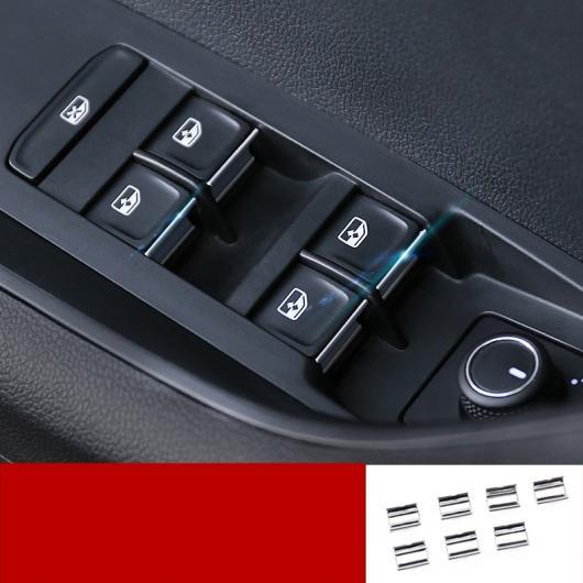 AL 適用: シュコダ カロック 2018 2019 ウインドウ リフト スイッチ ボタン カバー ステッカー トリム スパンコール 装飾 シルバー AL-EE-6819
