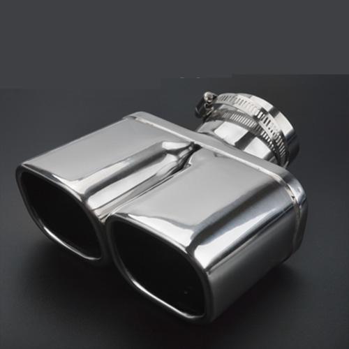 AL 適用: スズキ ビターラ 2016-2018 オート エキゾースト マフラー チップ ステンレス スチール パイプ クローム トリム リア テール スロート ライナー スタイル 3 AL-EE-6841