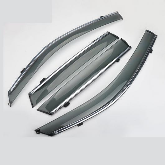 AL 適用: スズキ ビターラ 2016-2018 クローム ウインドウ サン 吹き出し口 バイザー レイン ガード 日差し 雨 シールド 装飾 シルバー AL-EE-6843