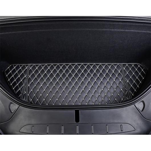 AL 適用: テスラ モデル X 2014-18 すべて フロント ボックス マット トランク 防水 カーペット 装飾 ブラック ホワイト ライン AL-EE-6861