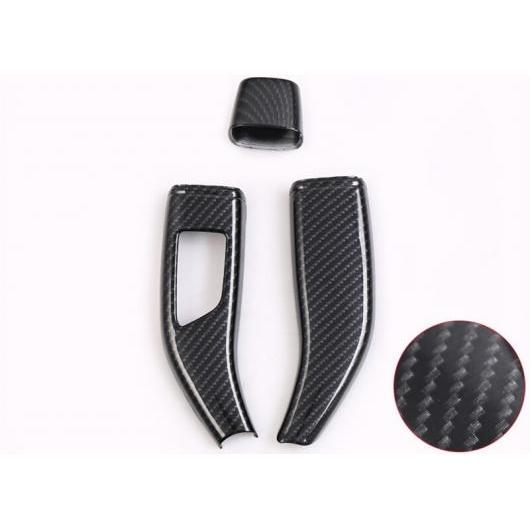 AL 適用: テスラ モデル X 2014-2018 カーボンファイバー ギア レバー 装飾 カバー インテリア アクセサリー カーボンファイバー AL-EE-6867