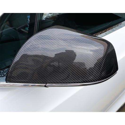 AL 適用: テスラ モデル X 2014-2018 カーボンファイバー リアビュー ミラー カバー シェル バックミラー エッジ ガード カーボンファイバー AL-EE-6869