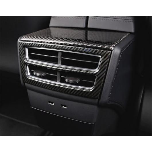 AL 適用: テスラ モデル S 2014-2018 吹き出し口 エア アームレスト ボックス リア シート イン ミドル エアコン ステンレス カーボン AL-EE-6898