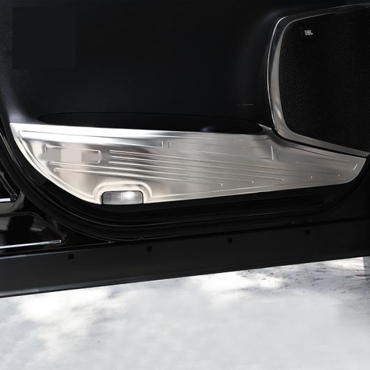 AL 適用: トヨタ アルファード 2015-18 プロテクター サイド エッジ 保護 アンチキック ドア カバー ケース ステンレス スチール シルバー AL-EE-6936