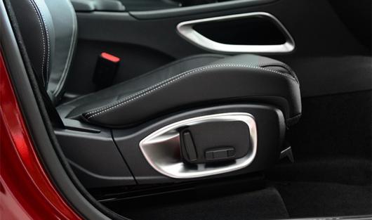AL 適用: ジャガー XF 2016 2017 2018 シート アジャスター ボタン 装飾 スパンコール フレーム トリム スタイル 1 シルバー 1~スタイル 3 AL-EE-6808