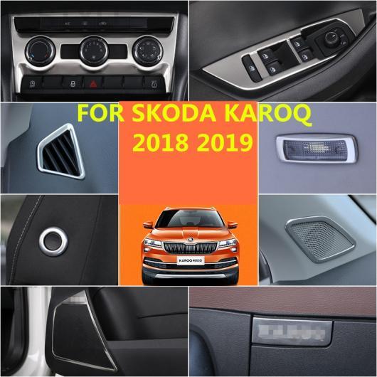 AL 適用: シュコダ カロック 2018 2019 シルバー フル トリム ステッカー カバー ステンレス スチール スタイル 3・スタイル 7 AL-EE-6825
