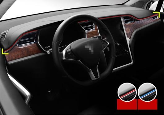 AL 適用: テスラ モデル X S 2014-2018 ダッシュボード セントラル コントロール コンソール パネル カバー トリム ストリップ プラスチック 装飾 レッド・ブルー AL-EE-6857