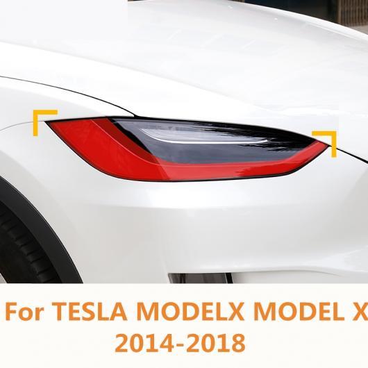 AL 適用: テスラ モデル X 2014-18 ヘッドライト アイブロー アイリッド アクセサリー フロント ヘッドランプ エクステリア 装飾 レッド・ブルー AL-EE-6862