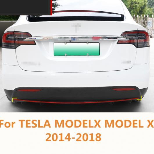 AL 適用: テスラ モデル X 2014-2018 バンパー リア トリム 装飾 ライト ストリップ レトロフィット ハイライト バー レッド・ブルー AL-EE-6863