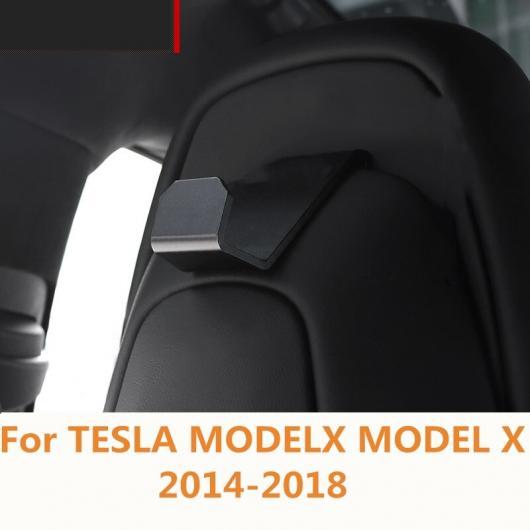 AL 適用: テスラ モデル X 2014-2018 シート バック フック ハンガー オーガナイザー ユニバーサル ヘッドレスト マウント ストレージ ハウス ブラック~シルバー AL-EE-6874