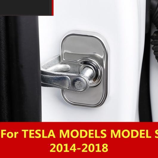 AL 適用: テスラ モデル S 2014-2018 防水 ドア ロック 保護 カバー 防錆 アクセサリー カーボンファイバー AL-EE-6899
