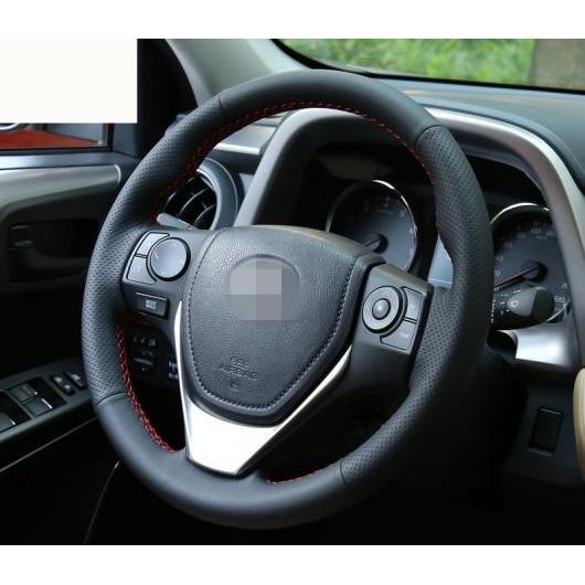 AL 適用: トヨタ RAV4 RAV 4 2016 2017 ステアリング ホイール カバー ソフト レザー 編み上げ ハンドル ブラック・ブラック レッド ライン AL-EE-6922
