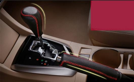 AL 適用: トヨタ カローラ 2014-2018 レザー センター コンソール ギア シフト 装飾 スリーブ ハンドブレーキ 保護 レッド ライン・ブラック ライン AL-EE-6982