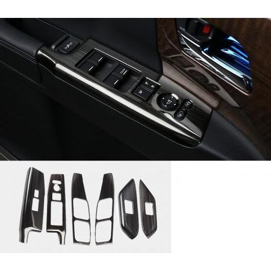 AL 適用: ホンダ オデッセイ 2015-18 インナー ドア ウインドウ リフト ボタン スイッチ パネル カバー トリム 装飾 ブラック 6ピース AL-EE-7161