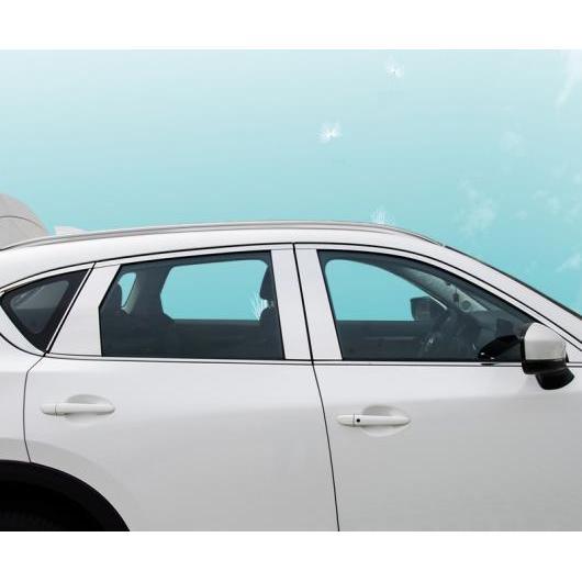 AL 適用: マツダ CX-5 CX5 CX 5 2017-2019 ステンレス スチール ストリップ ウインドウ トリム 装飾 アクセサリー フレーム 18ピースセット AL-EE-7275