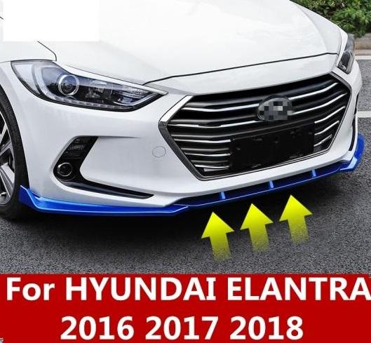 AL 適用: ヒュンダイ エラントラ 2016 2017 2018 ABS クローム フロント バンパー リップ 傷つき防止 アクセサリー ブラック~ゴールド AL-EE-7026