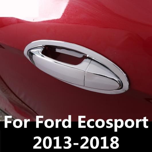 AL 適用: フォード エコスポーツ 2013-2018 シャープ アウトサイド ドア ハンドル カバー ボウル フレーム トリム ステッカー ハンドル・ドア ボウル AL-EE-7067