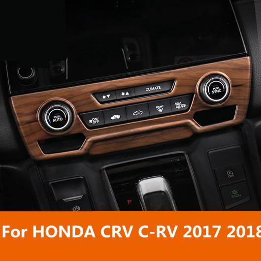 AL 適用: ホンダ CRV C-RV 2017-18 カーボンファイバー センター コンソール エアコン吹き出し口 パネル フレーム カバー 装飾 ブラック~シルバー AL-EE-7158
