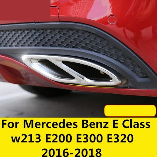 AL 適用: メルセデス ベンツ E クラス W213 E200 E300 E320 2016-18 リア テール パイプ トリム 2018 XC60 ブラック・シルバー AL-EE-7282