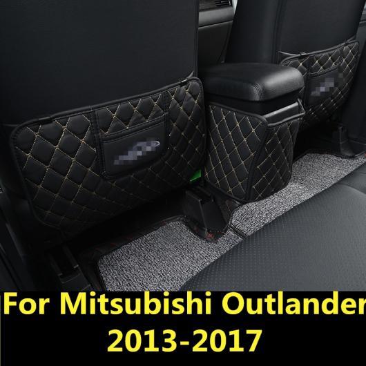 AL 適用: 三菱 アウトランダー 2013-2017 リア アームレスト ボックス アンチキック パッチ 装飾 シャープ ブラック~コーヒー AL-EE-7351