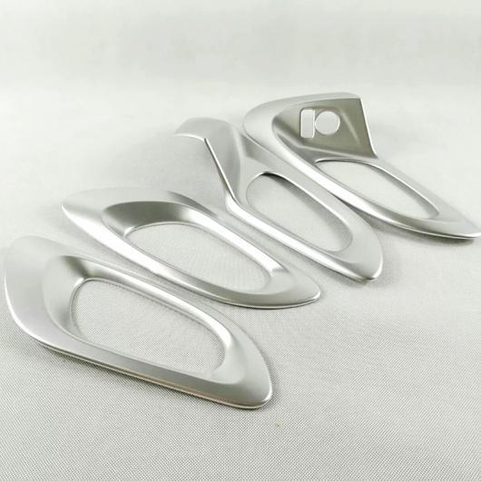 ドア ハンドル スパンコール インナー 装飾 フレーム カバー シルバー 適用: ルノー 内側 2015-2018 ABS AL AL-EE-7561 4ピース カジャー オート
