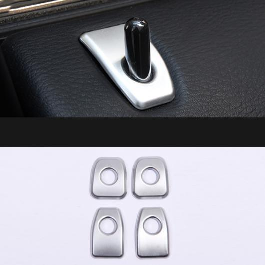 AL ABS クローム ドア ロック ガード カバー シャープ パネル フレーム アクセサリー 適用: BMW X5 E70 X6 E71 4ピース AL-EE-7676
