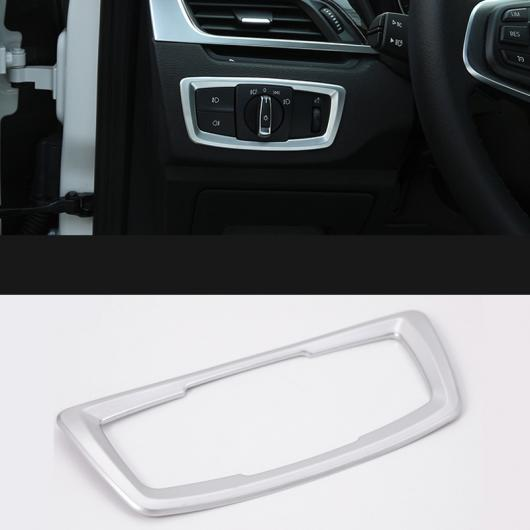 AL ABS クローム ヘッドライト ランプ スイッチ ボタン カバー トリム 多機能 パネル フレーム 適用: BMW X1 F48 2016-2018 1ピース AL-EE-7681