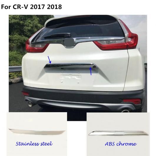 AL スタイル カバー ステンレス スチール/ リア ドア テールゲート フレーム プレート トリム トランク パーツ 適用: ホンダ CRV CR-V 2017 2018 ABS クローム・ステンレス スチール AL-EE-7798