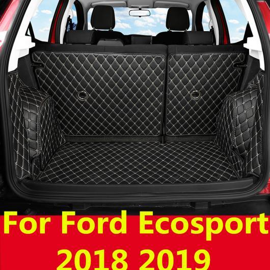 AL すべて トランク マット ケース 適用: 防水 ブーツ カーペット フォード エコスポーツ 2018 2019 5ピース AL-EE-7821