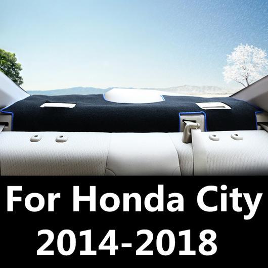 AL ダッシュボード カバー マット パッド サン シェード ライト ダッシュ ボード カーペット プロテクター 装飾 適用: ホンダ シティ 2014-2018 ブラック~ブルー AL-EE-7834