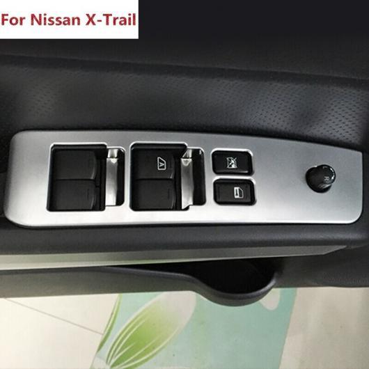 AL 適用: 日産 エクストレイル T31 ガラス スイッチ カバー トリム ドア ウインドウ ボタン 装飾 パネル ABS クローム X トレイル 2008 2013 AL-EE-7357
