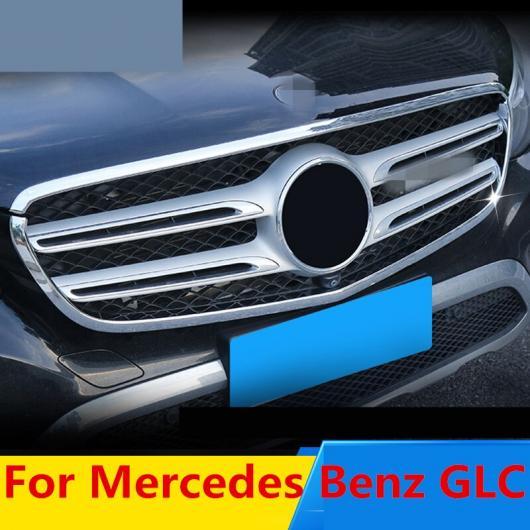 AL ABS クローム フロント エンジン バンパー グリッド アッパー セントラル 装飾 ブライト フレーム エクステリア 適用: メルセデス ベンツ GLC AL-EE-7678