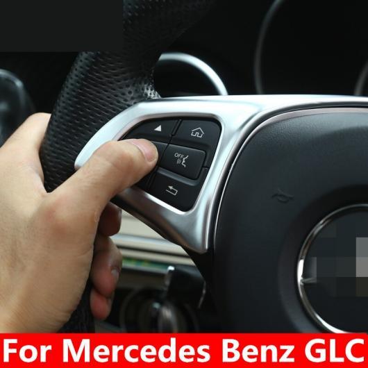 AL ステアリング ホイール ボタン 装飾 トリム カバー スパンコール カースタイリング アクセサリー インテリア 適用: メルセデス ベンツ GLC AL-EE-7804