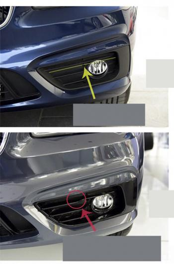 AL フロント フォグライト フレーム ブライト ストリップ 装飾 カバー 適用: BMW 2シリーズ F22 F23 M2 F87 220I 228I 230I M235I 2ピース AL-EE-7879
