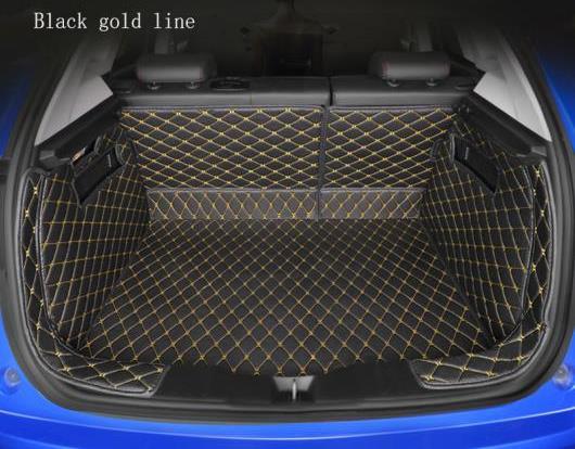 AL 全周囲 適用: 日産 全モデル キャシュカイ エクストレイル ティーダ プリメーラ パスファインダー ブーツ マット トランク マット フロア カーペット ブラック ホワイトライン~ブラウン ゴールド糸 AL-EE-8238