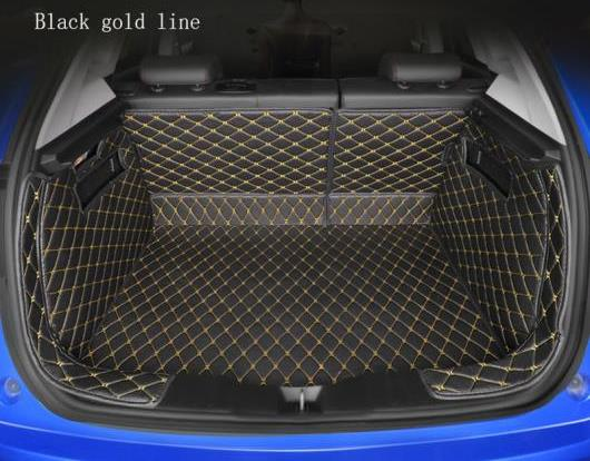 AL 全周囲 適用: フォルクスワーゲン ポロ ゴルフ ティグアン パサート ジェッタ VW フェートン トゥアレグ フェートン CC 全モデル トランク マット ブラック ホワイトライン~ブラウン ゴールド糸 AL-EE-8522
