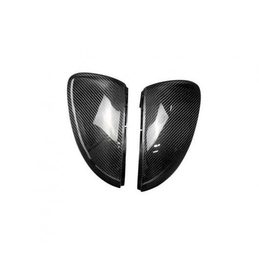 AL カーボンファイバー バックミラー バック ミラー カバー トリム シェル リプレース 適用: フォルクスワーゲン ゴルフ7 GTI MK6 MK7 R20 パサート CC シロッコ ラマンド クラシカル スタイル AL-EE-8937