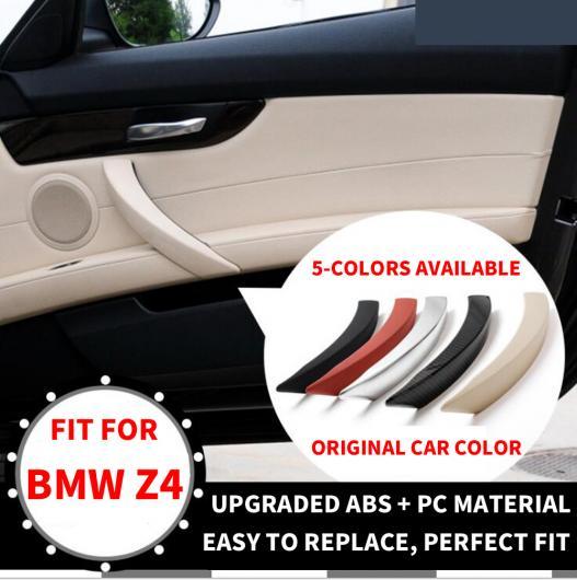 AL 1ピース LHD RHD ラグジュアリー インテリア インナー パッセンジャー ドア フロント 右 プル ハンドル カバー トリム 適用: BMW Z4 E89 LHD パッセンジャー ブラック~RHD カーボンファイバー AL-EE-8623