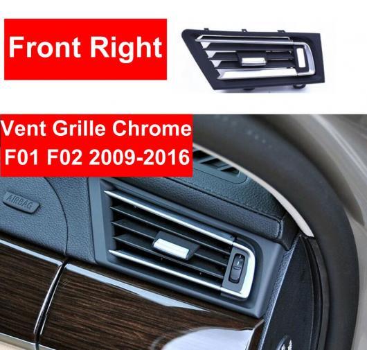AL ABS フロント 右 ヒーター ウィンド エアコン 吹き出し口 グリッド パネル クローム プレート リプレース 適用: BMW 7シリーズ F01 F02 730 735 センター~リア ハイ バージョン AL-EE-8813