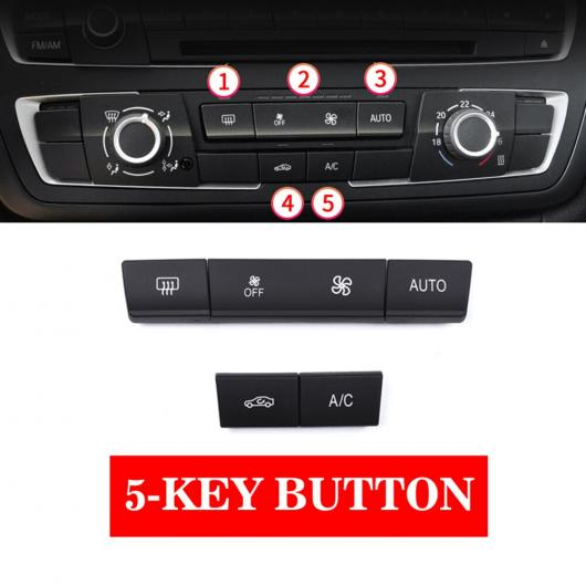 AL ABS エア コンディション CD デジタル コントロール キー ボタン カバー トリム ステッカー 適用: BMW F30 F80 F31 F32 F33 F35 2013-18 1/2/3/4シリーズ 5-KEY ボタン AL-EE-8806