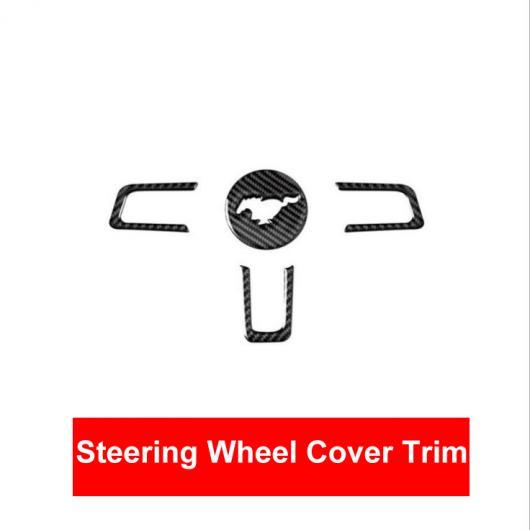 AL カーボンファイバー ステアリング ホイール フレーム トリム カバー ステッカー 適用: マスタング 2015 2016 2017 オート 装飾 アクセサリー クラシカル スタイル AL-EE-8932