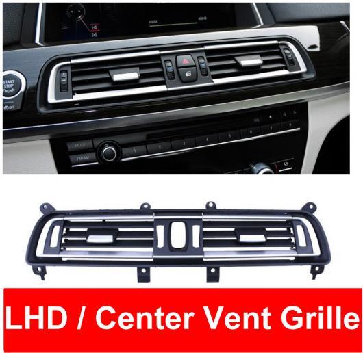 AL LHD ABS センター ミドル ウィンド エアコン AC 吹き出し口 グリル パネル クローム プレート 適用: BMW 7シリーズ F01 F02 730 735 740 センター~リア ハイ バージョン AL-EE-8602