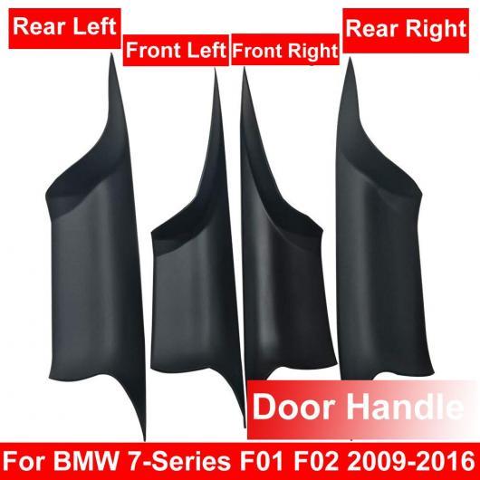 AL インテリア ドア ハンドル 適用: BMW F01 7シリーズ フロント リア 左 右 インナー パネル プル トリム カバー 4ピース ブラック セット・4ピース クリーム セット AL-EE-8627