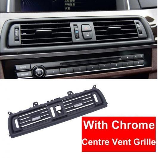 AL RHD フロント ウィンド 左/センター/右/リア エアコン 吹き出し口 グリル パネル クローム プレート 適用: BMW 5シリーズ F10 F18 10-2017 センター AL-EE-8616