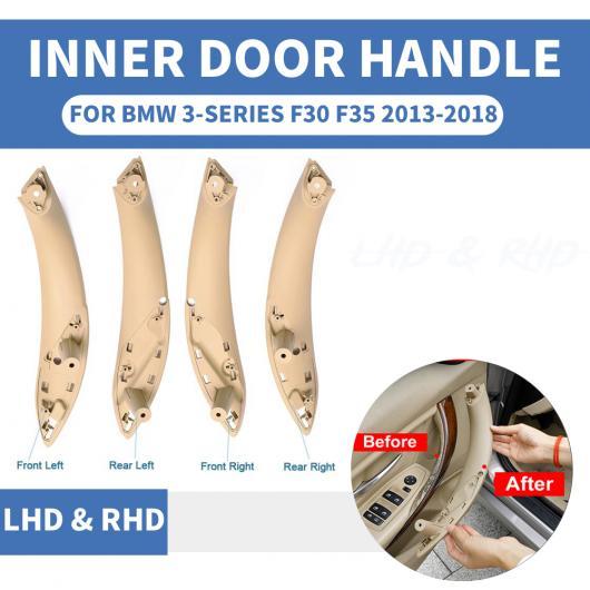 AL インテリア インナー ドア プル ハンドル トリム カバー 適用: BMW F30 F80 F31 F32 F33 F35 2013-2018 ベージュ フロント 左~クリーム リア 右 AL-EE-8688