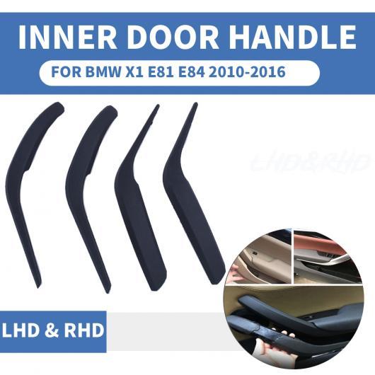 AL フロント リア 左/右 クローム インテリア ドア ハンドル インナー プル トリム カバー アームレスト 適用: BMW X1 E84 10-2016 ブラック 左~クローム 右 AL-EE-8689